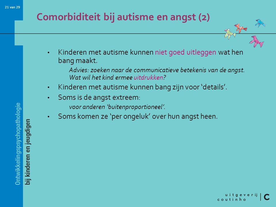 Comorbiditeit bij autisme en angst (2)