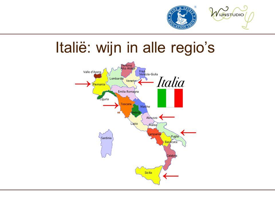 Italië: wijn in alle regio's