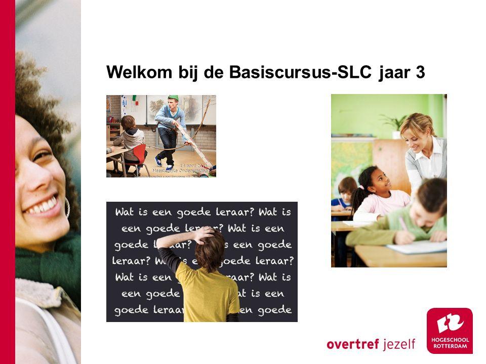 Welkom bij de Basiscursus-SLC jaar 3