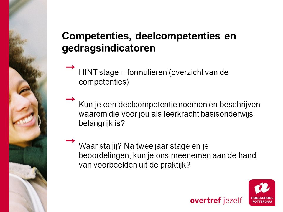 Competenties, deelcompetenties en gedragsindicatoren