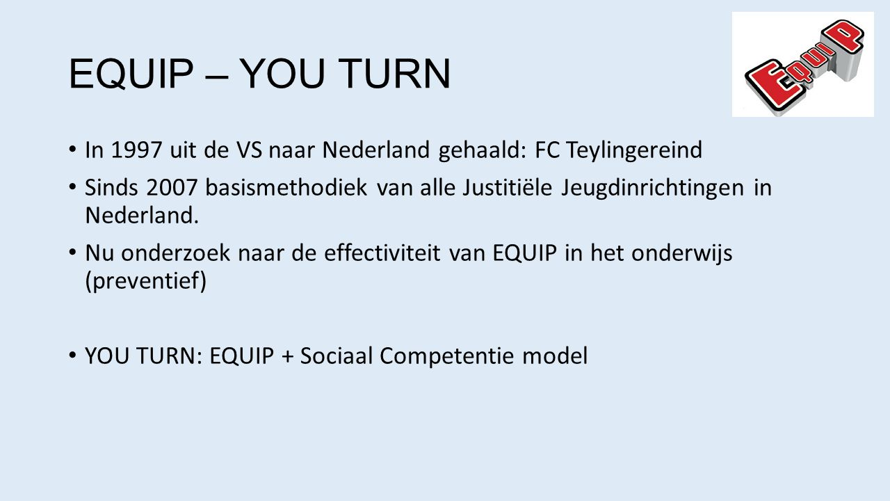EQUIP – YOU TURN In 1997 uit de VS naar Nederland gehaald: FC Teylingereind.