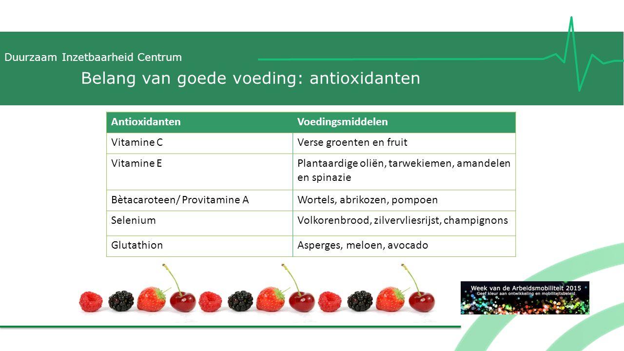 Belang van goede voeding: antioxidanten