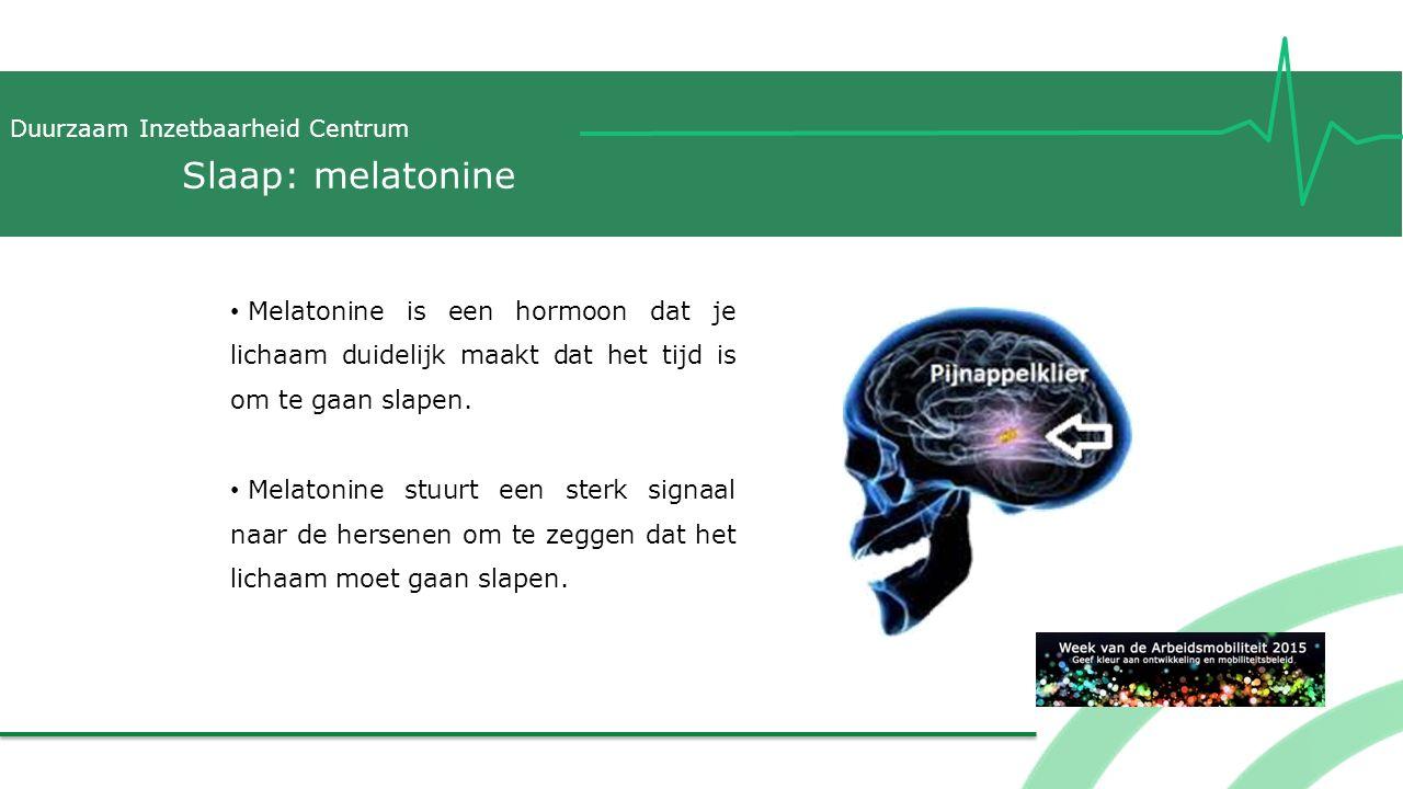 Slaap: melatonine Melatonine is een hormoon dat je lichaam duidelijk maakt dat het tijd is om te gaan slapen.