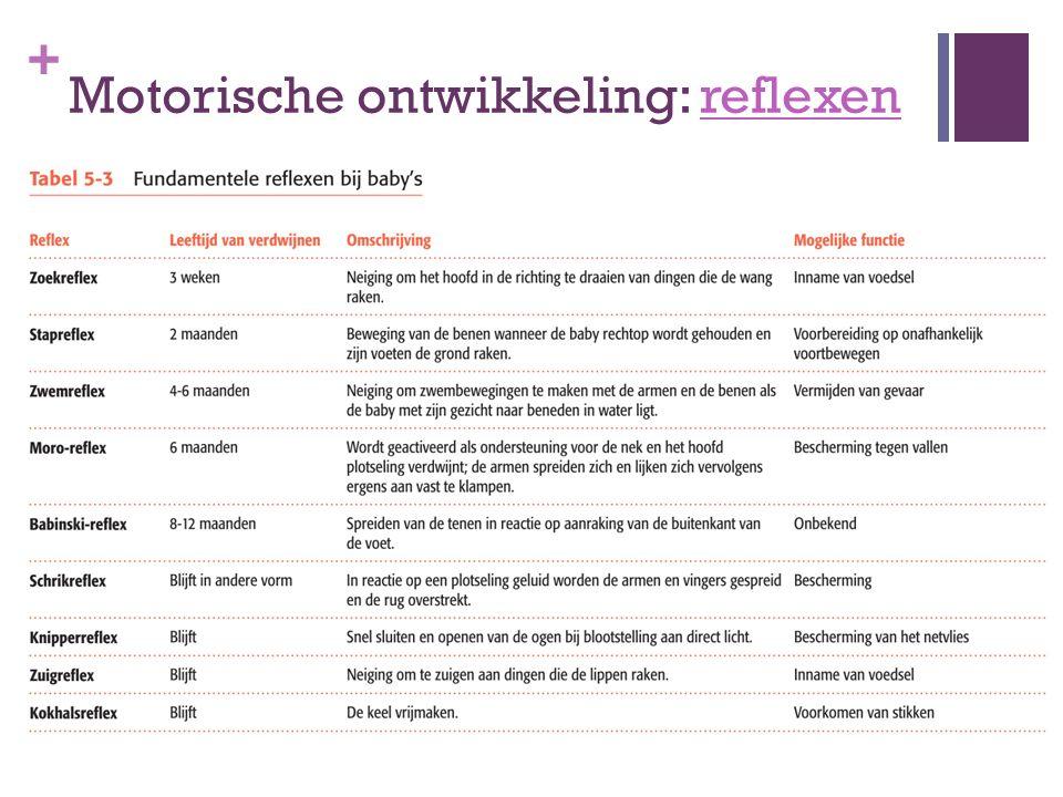 Motorische ontwikkeling: reflexen