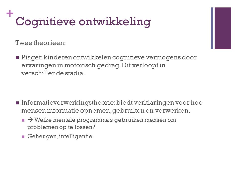 Cognitieve ontwikkeling