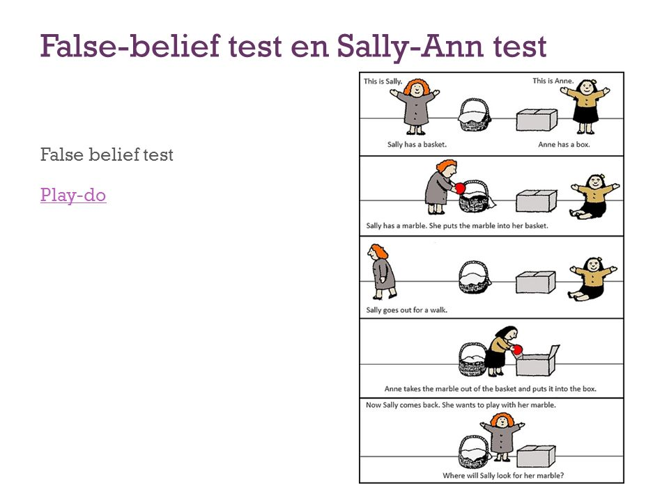 False-belief test en Sally-Ann test