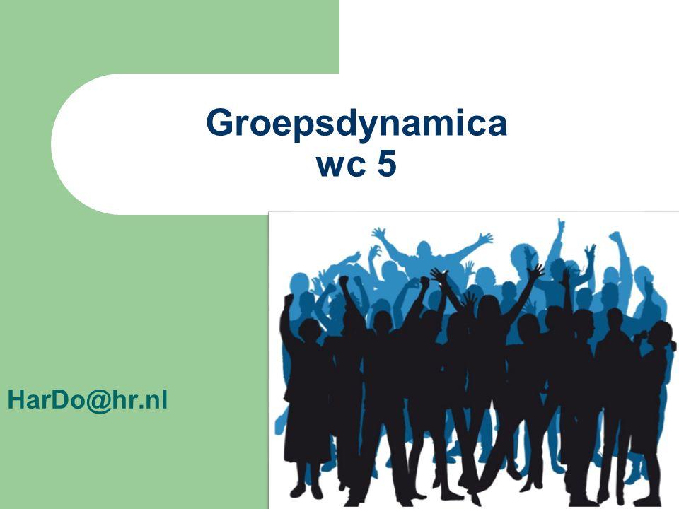 Groepsdynamica wc 5 HarDo@hr.nl