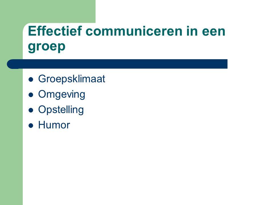 Effectief communiceren in een groep