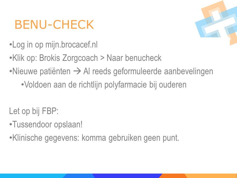 BENU-CHECK Log in op mijn.brocacef.nl