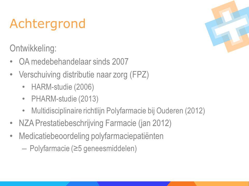 Achtergrond Ontwikkeling: OA medebehandelaar sinds 2007