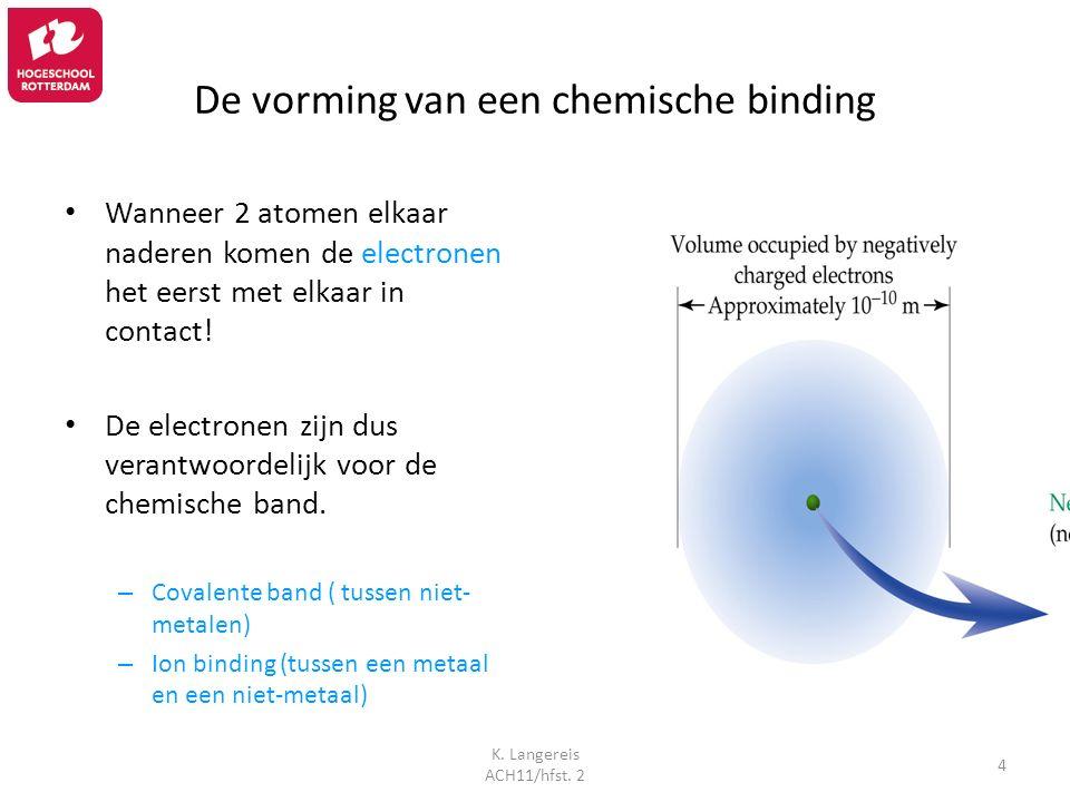 De vorming van een chemische binding