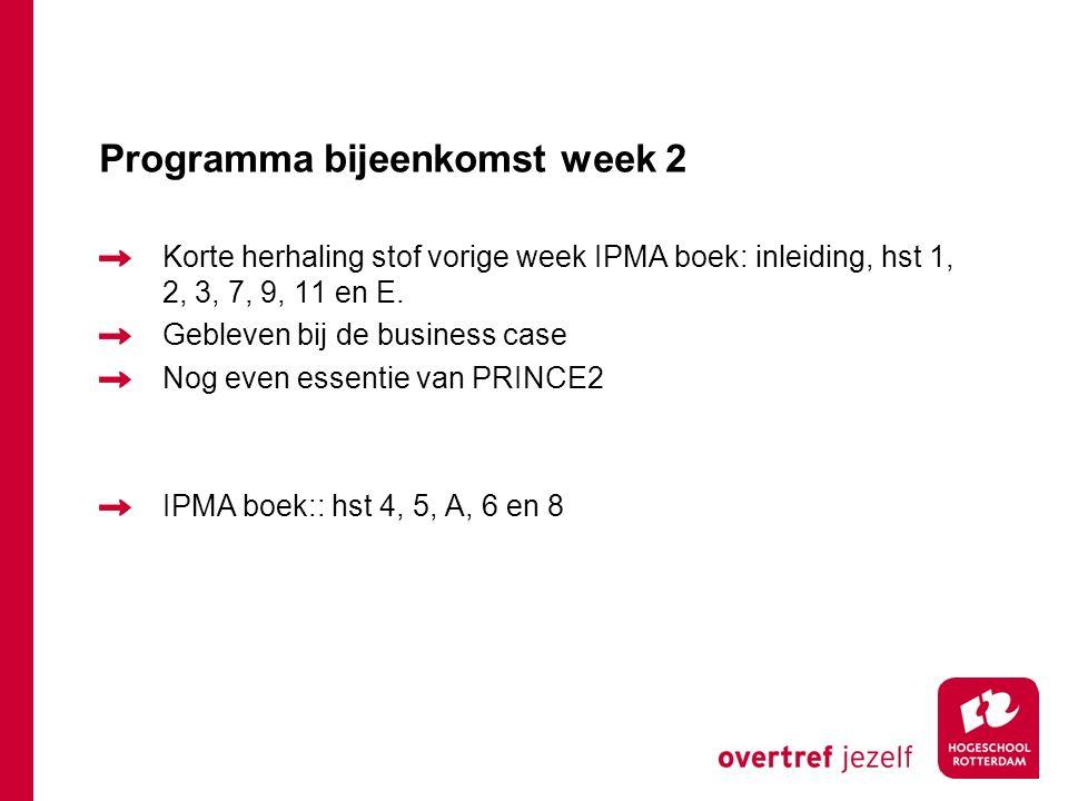 Programma bijeenkomst week 2