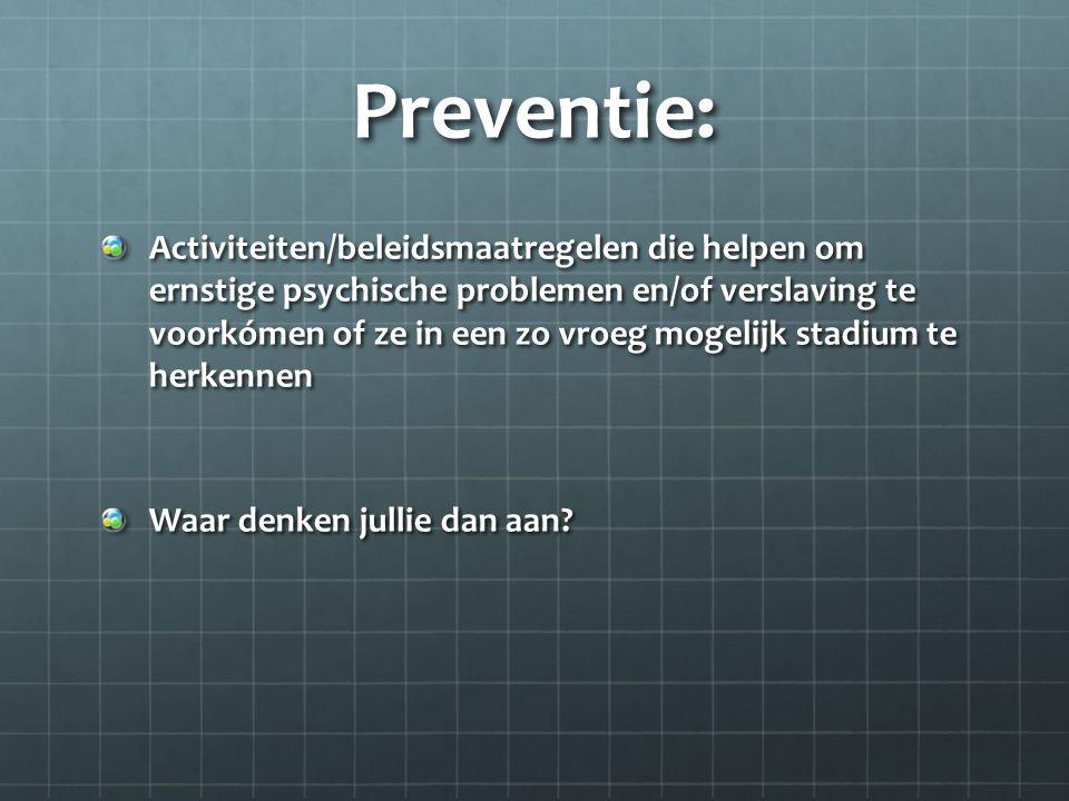 Preventie:
