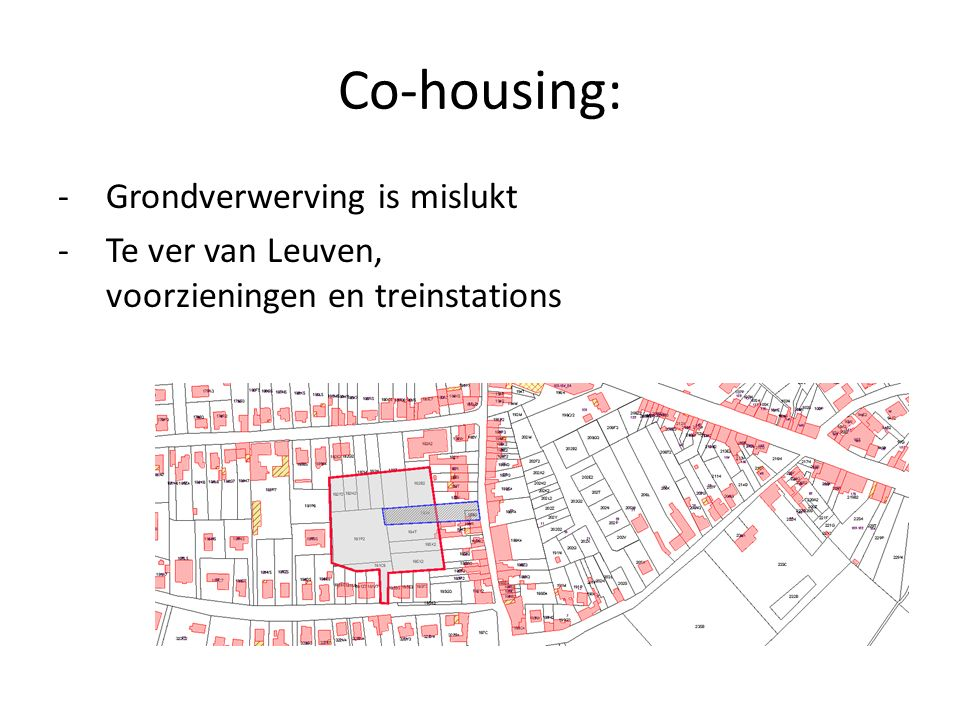 Co-housing: Grondverwerving is mislukt