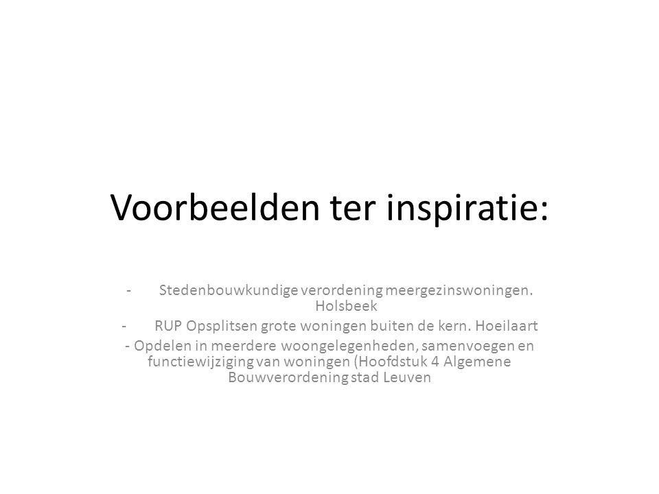 Voorbeelden ter inspiratie: