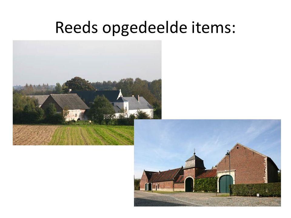 Reeds opgedeelde items: