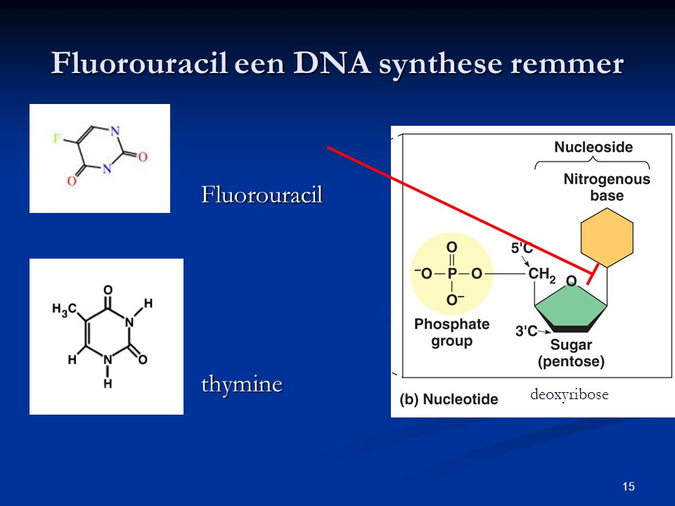 Fluorouracil een DNA synthese remmer