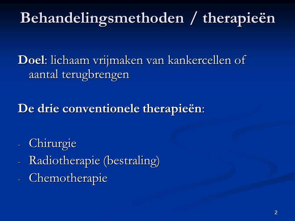 Behandelingsmethoden / therapieën