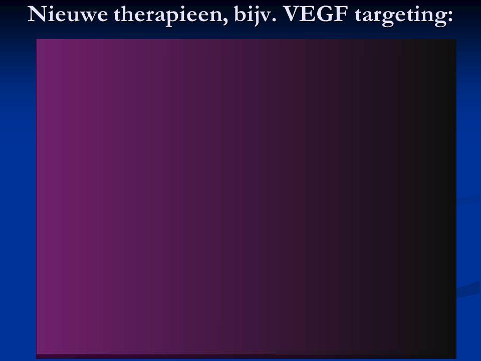 Nieuwe therapieen, bijv. VEGF targeting: