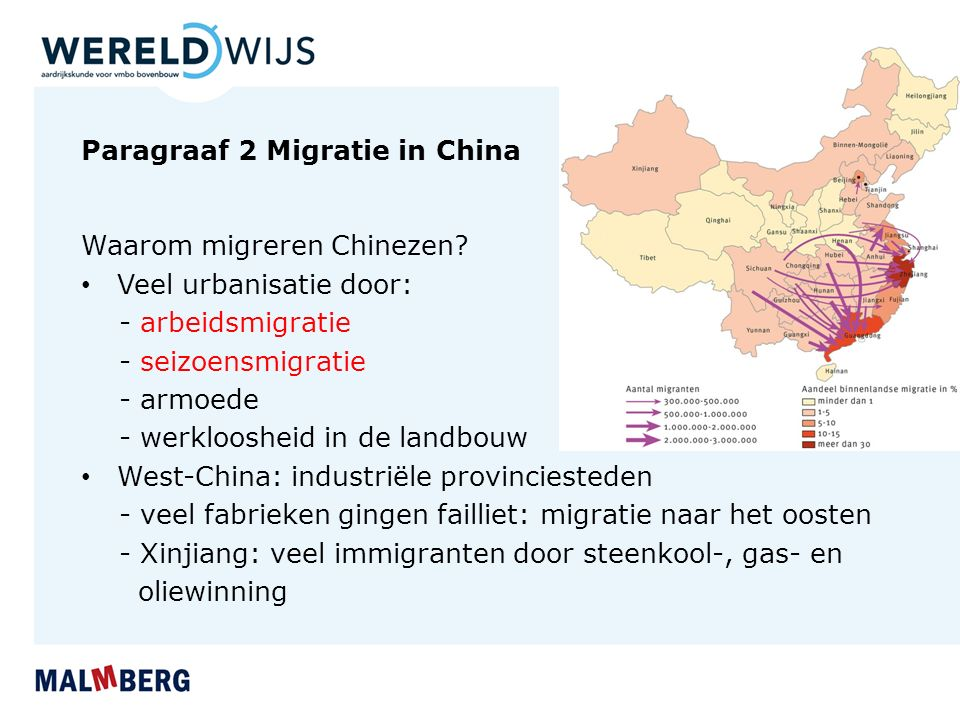 Paragraaf 2 Migratie in China