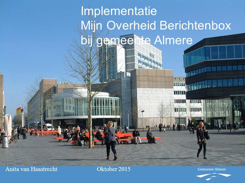 Implementatie Mijn Overheid Berichtenbox bij gemeente Almere