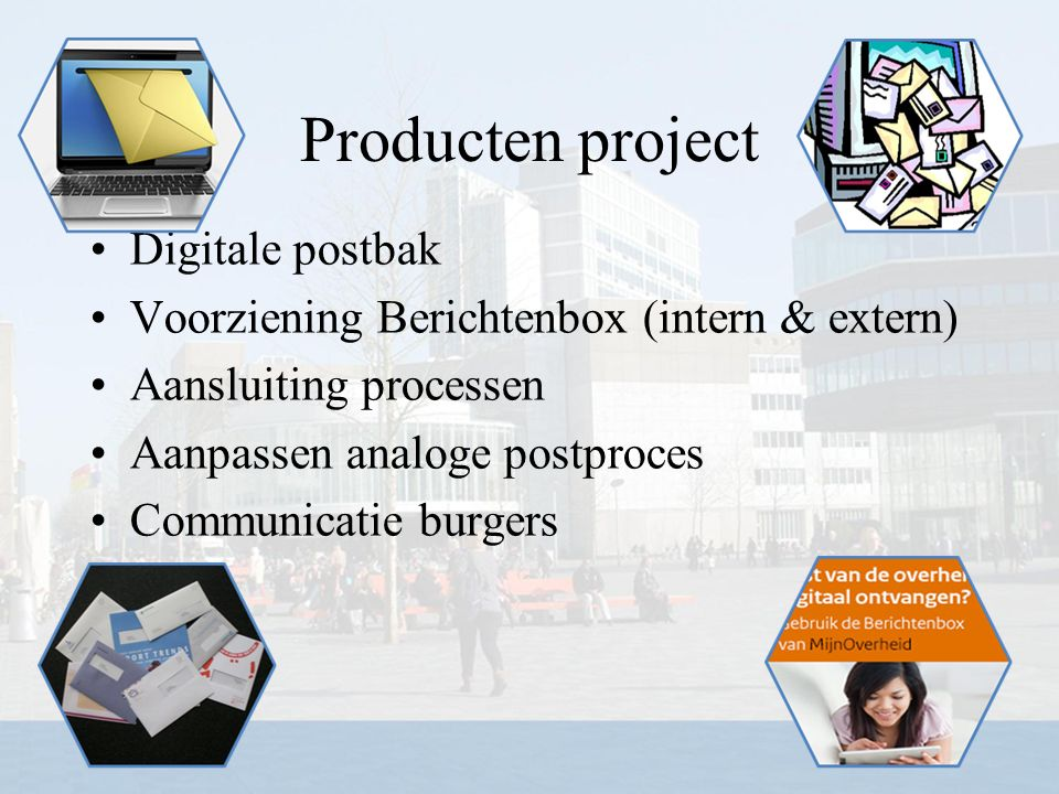 Producten project Digitale postbak