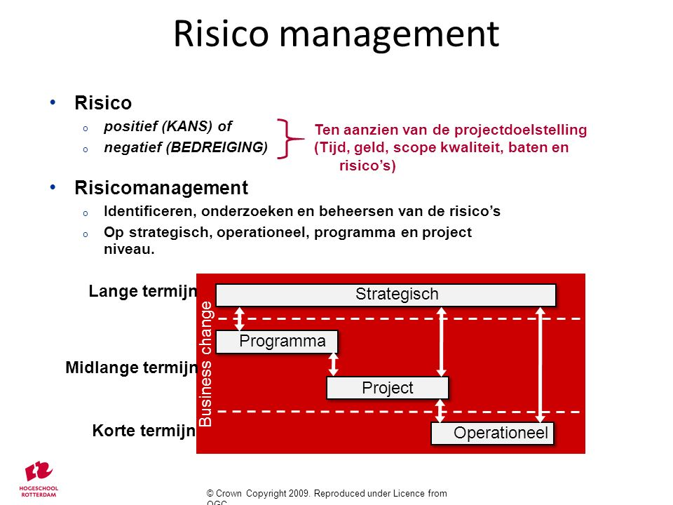Risico management Risico Risicomanagement Lange termijn Strategisch