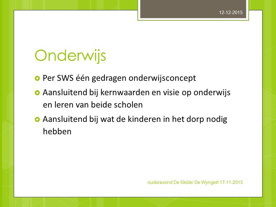 Onderwijs Per SWS één gedragen onderwijsconcept