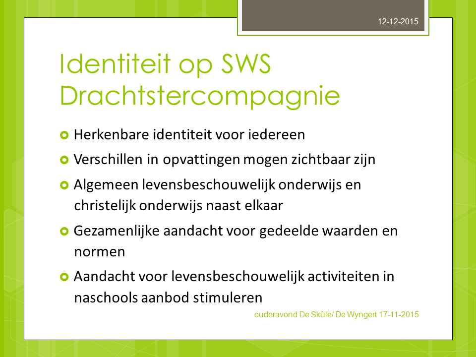 Identiteit op SWS Drachtstercompagnie
