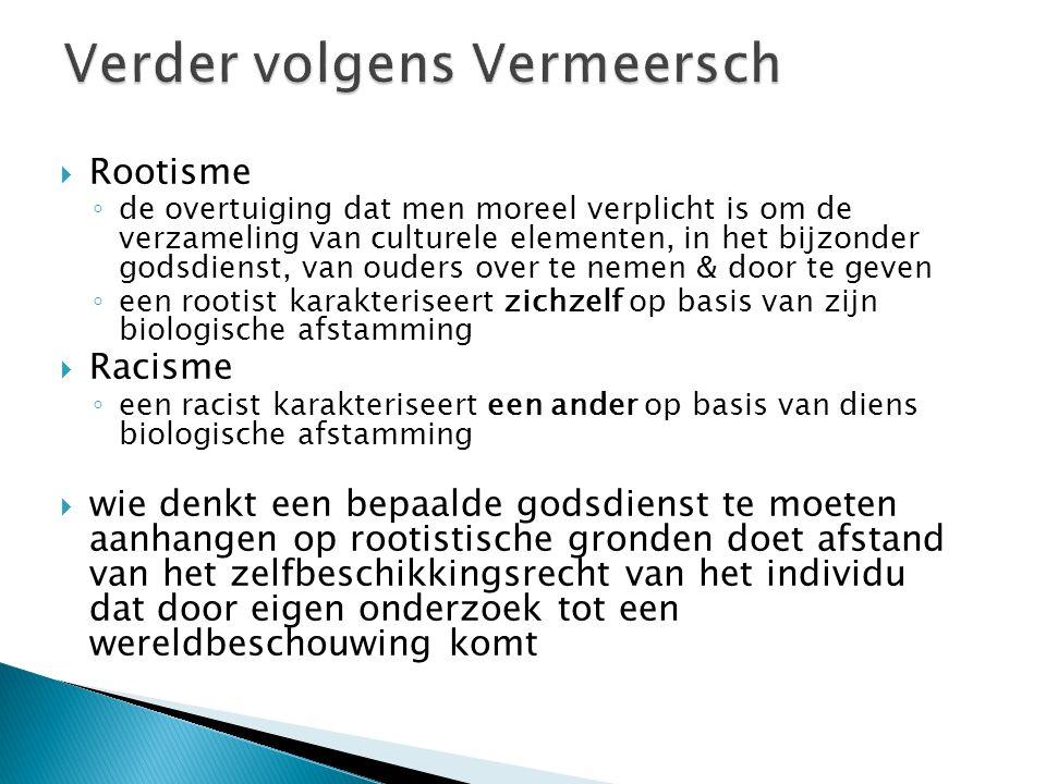 Verder volgens Vermeersch