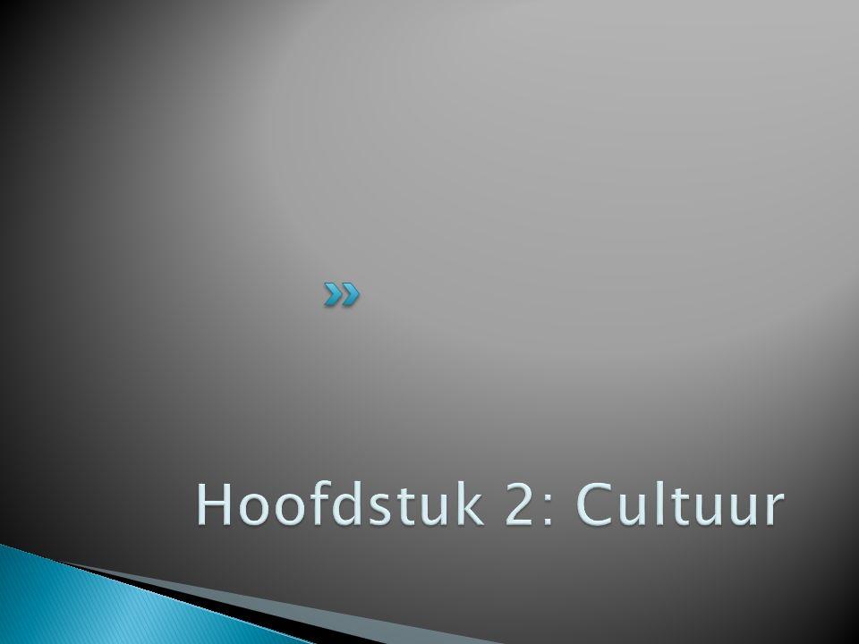 Hoofdstuk 2: Cultuur