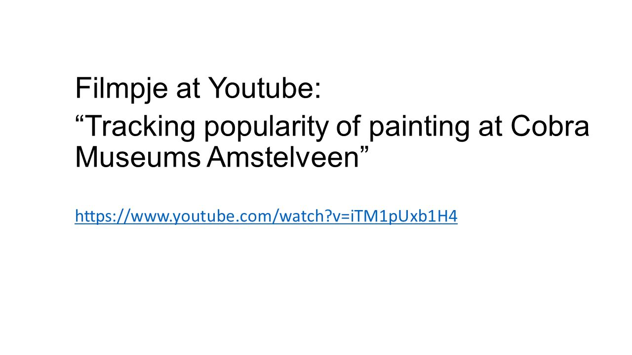 Tracking popularity of painting at Cobra Museums Amstelveen
