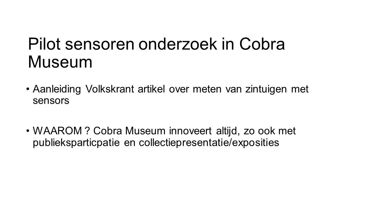 Pilot sensoren onderzoek in Cobra Museum