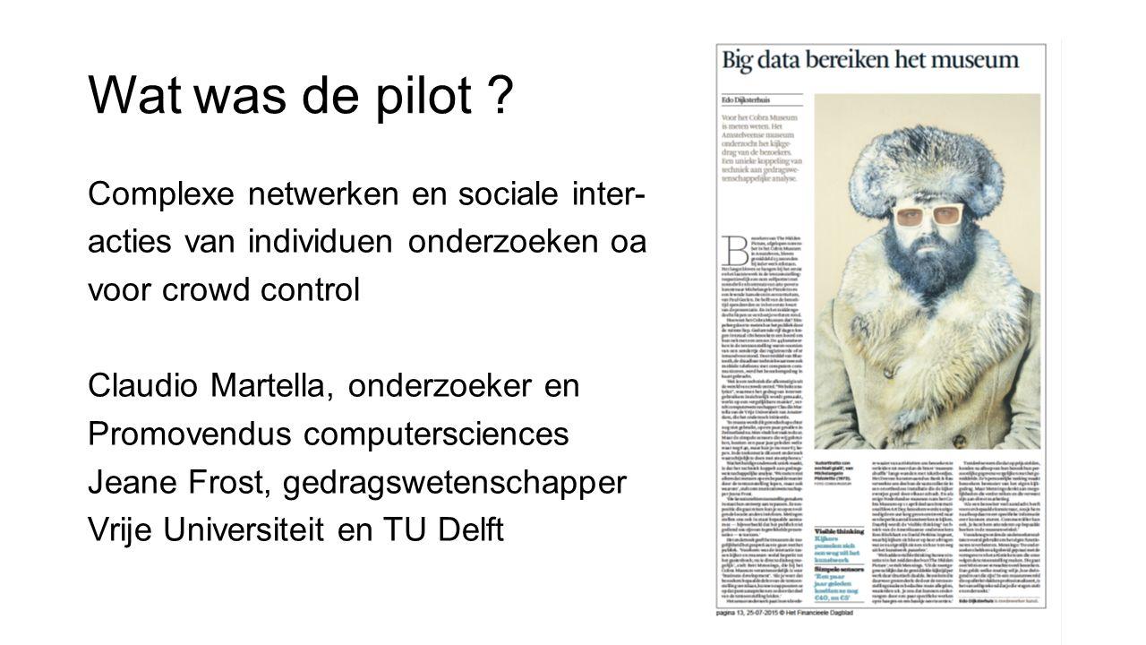 Wat was de pilot Complexe netwerken en sociale inter-