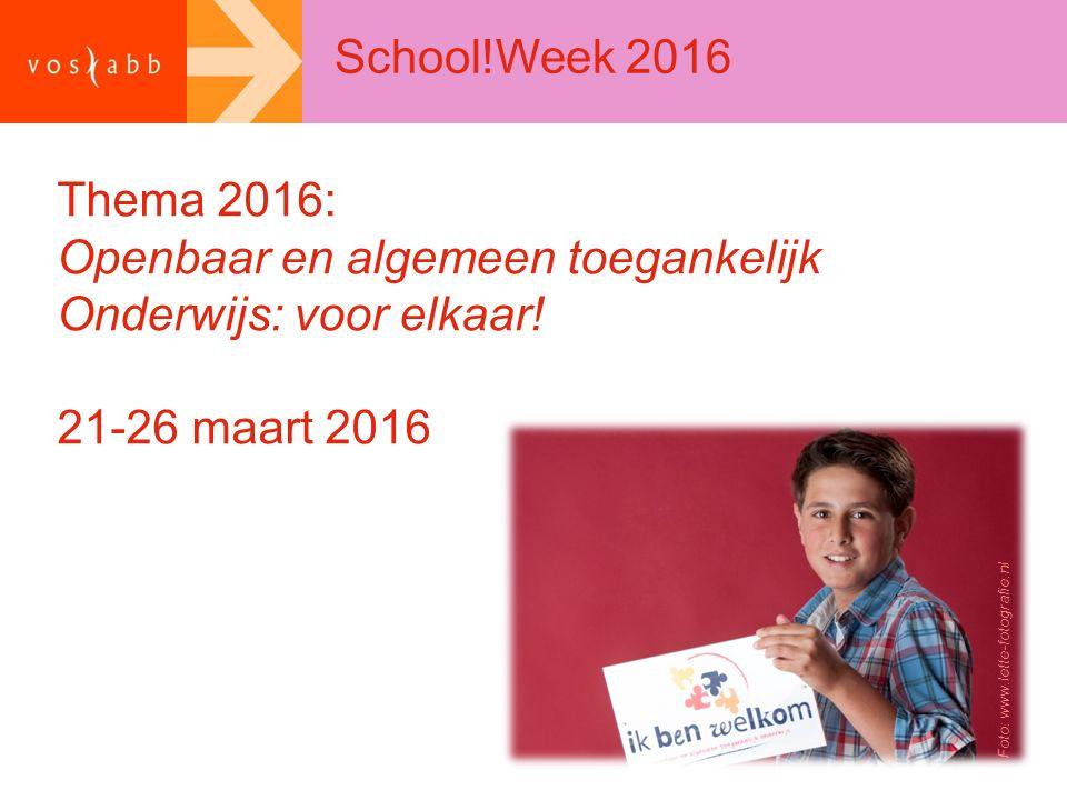 Openbaar en algemeen toegankelijk Onderwijs: voor elkaar!