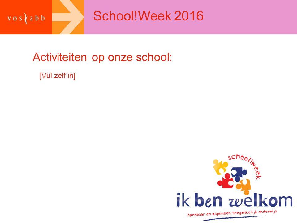 Activiteiten op onze school: