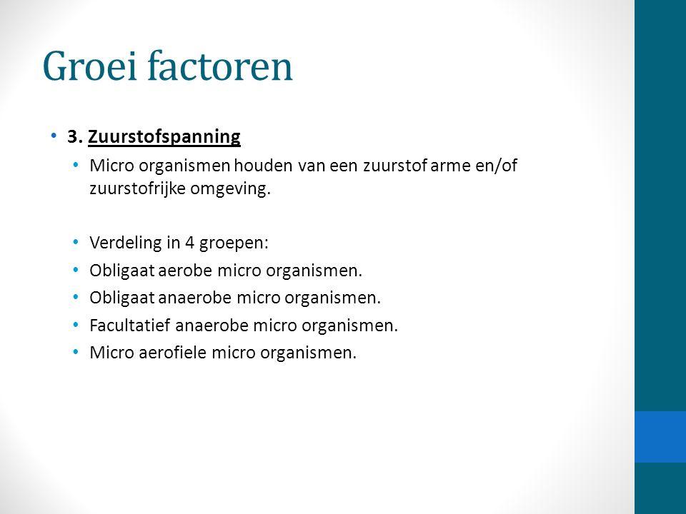 Groei factoren 3. Zuurstofspanning