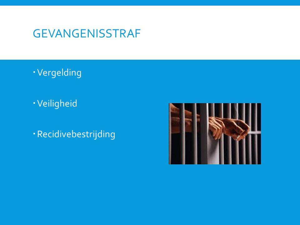 Gevangenisstraf Vergelding Veiligheid Recidivebestrijding
