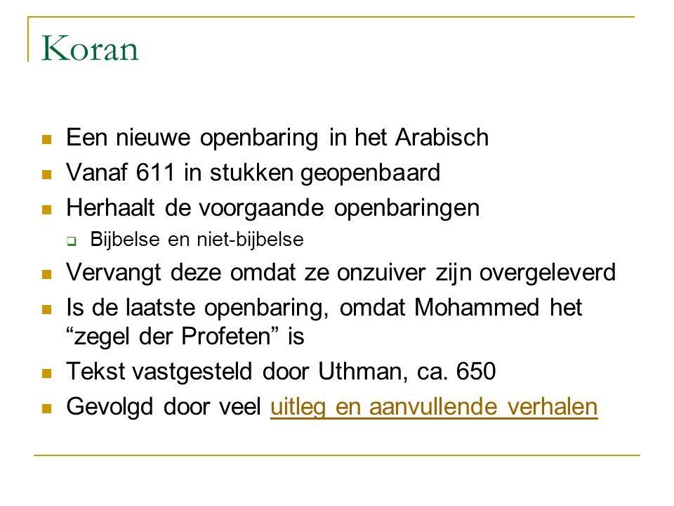 Koran Een nieuwe openbaring in het Arabisch