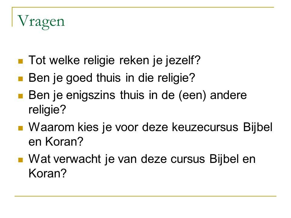 Vragen Tot welke religie reken je jezelf
