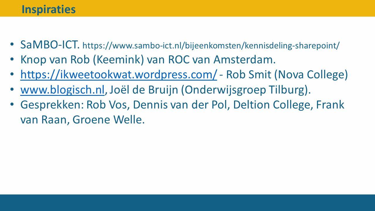 Knop van Rob (Keemink) van ROC van Amsterdam.