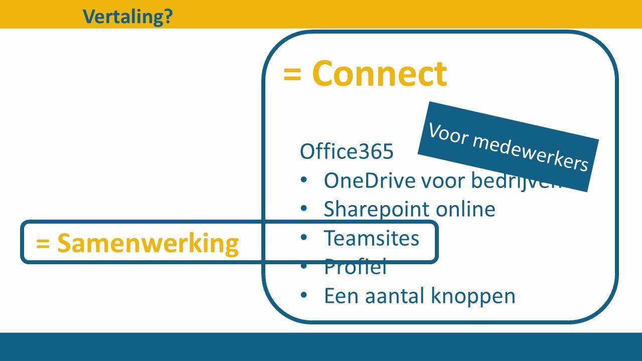 = Connect = Samenwerking Office365 OneDrive voor bedrijven