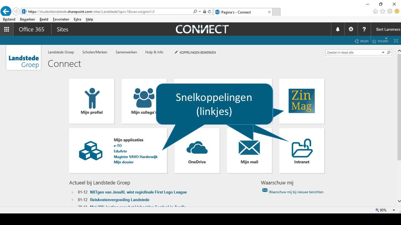 Snelkoppelingen (linkjes) Dit is Connect.