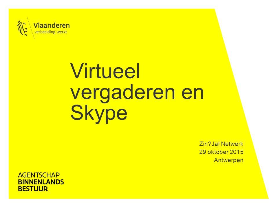 Virtueel vergaderen en Skype