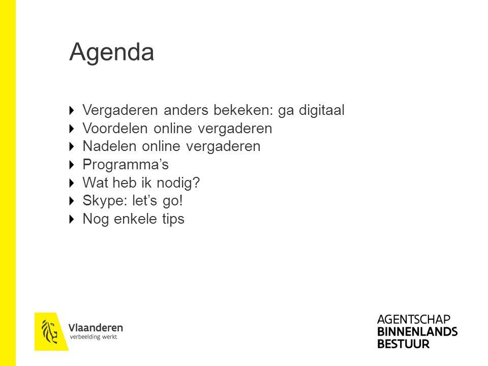 Agenda Vergaderen anders bekeken: ga digitaal