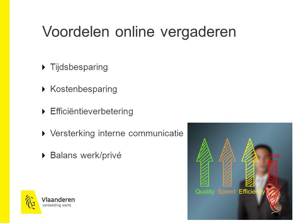 Voordelen online vergaderen
