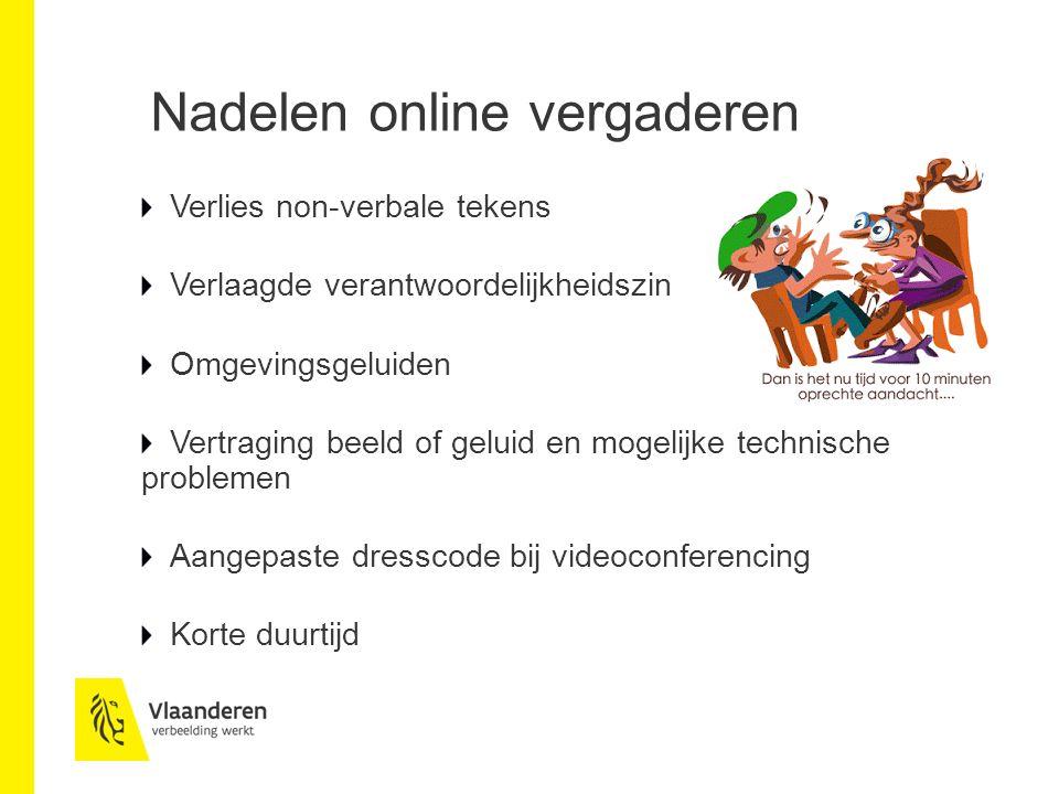 Nadelen online vergaderen
