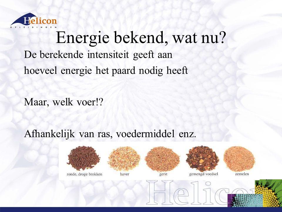 Energie bekend, wat nu