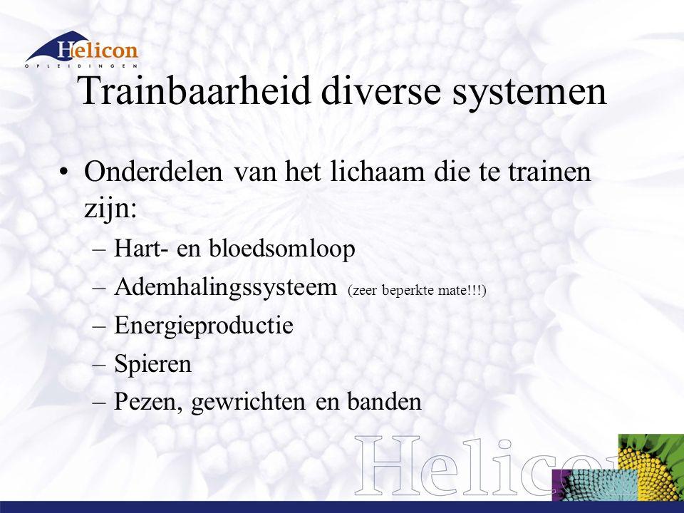 Trainbaarheid diverse systemen