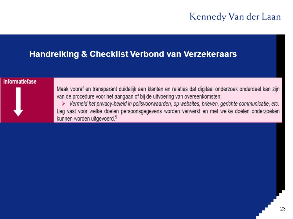 Handreiking & Checklist Verbond van Verzekeraars